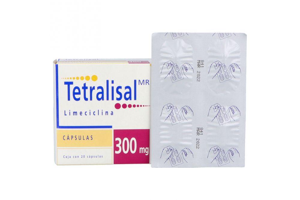 Tetralisal 300 mg Caja con 20 Cápsulas - RX2