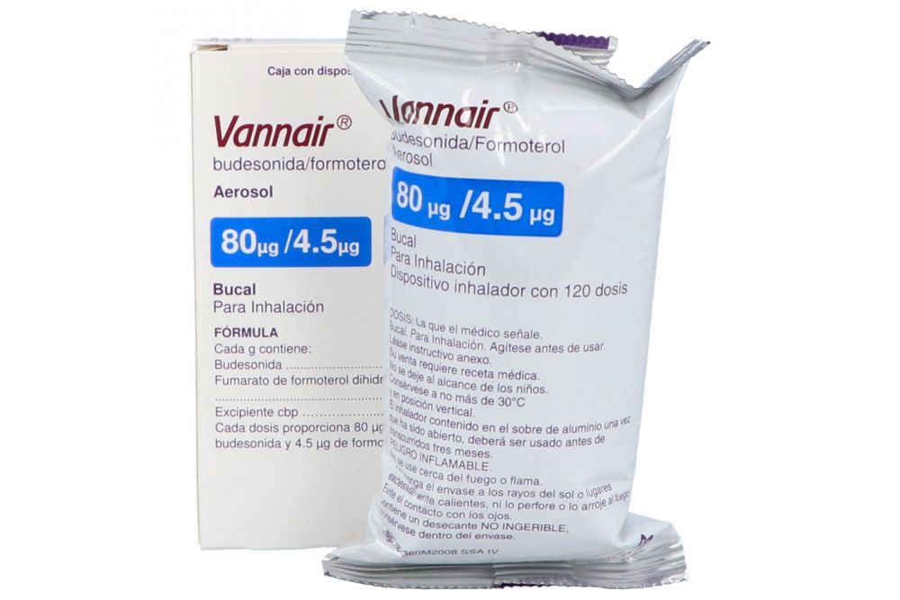 Vannair 80 Mcg/ 4.5 Mcg Caja con Dispositivo Inhalador 120 Dosis