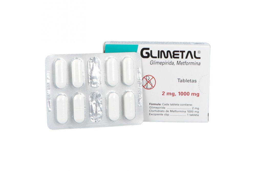 Glimetal 2 mg / 1000 mg Caja Con 16 Tabletas