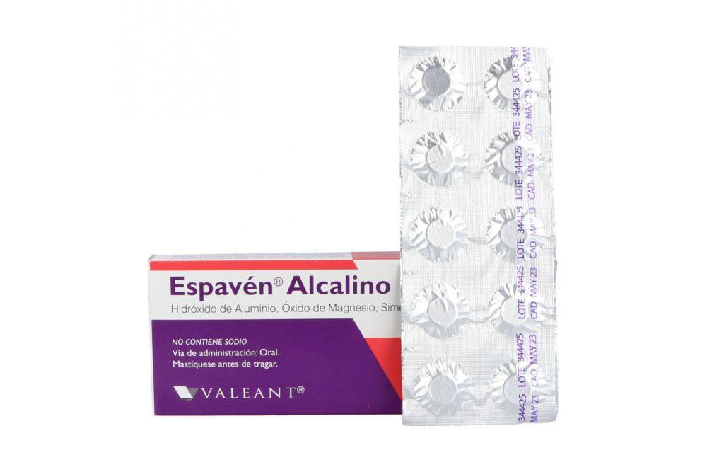 Espavén Alcalino Caja Con 50 Tabletas Sabor Menta