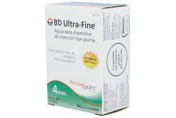 BD Ultra fine Aguja Caja Con 10 Piezas 32Gx4mm
