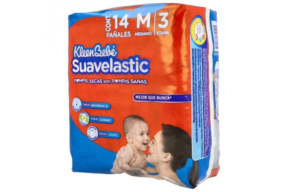 Kleen Bebé Suavelastic Max 3 Mediano 6-10 Kg Empaque Con 10 Pañales