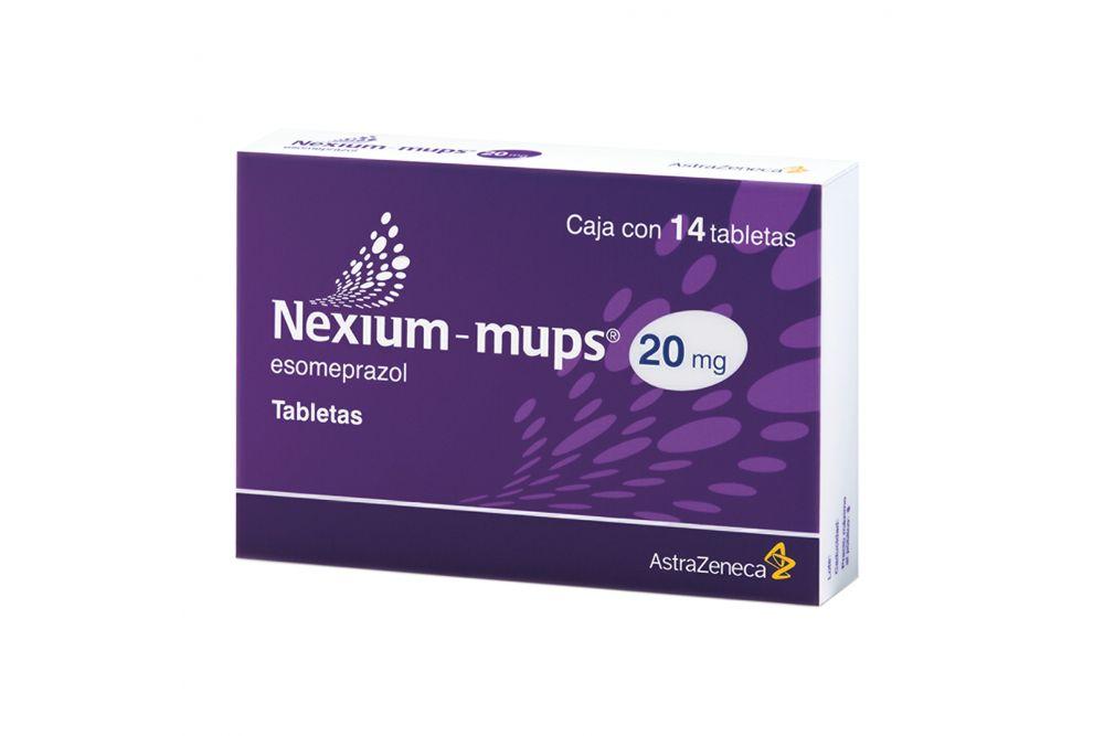 Nexium Mups 20 mg Caja Con 14 Tabletas