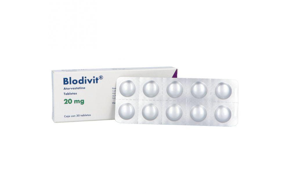 Blodivit 20 mg Caja Con 30 Tabletas