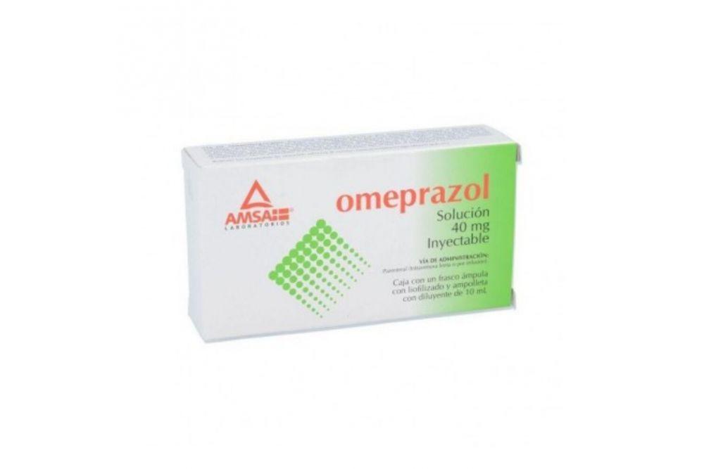 Omeprazol IV 40 mg Caja Con 1 Ampolleta