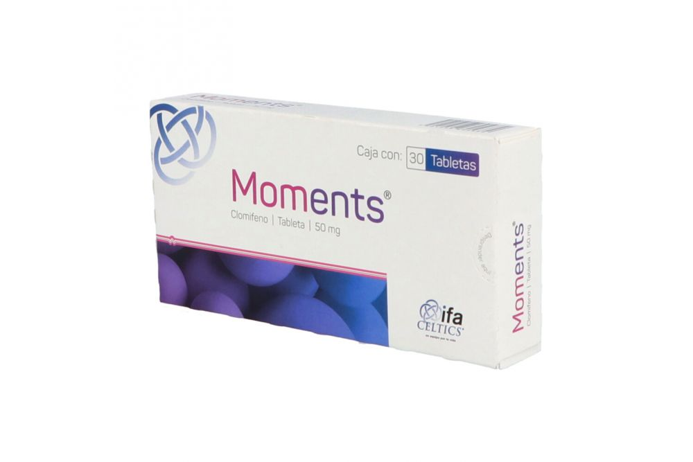 Moments 50 mg Caja con 30 Tabletas