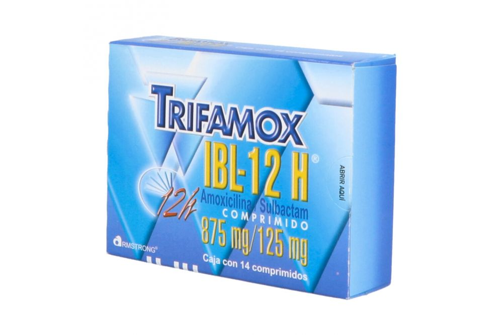Trifamox IBL - 12 H 875 mg / 125 mg Caja Con 14 Comprimidos - RX2