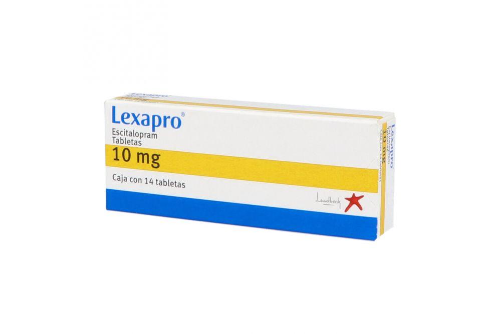 Lexapro 10 mg Caja Con 14 Tabletas