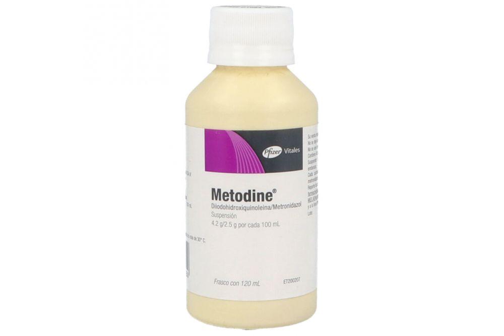 Metodine Suspensión 4.2 g/ 2.5 g/ 100 mL Frasco Con 120 mL