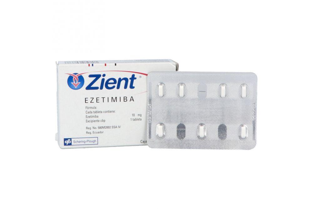 Zient 10 mg Caja Con 14 Tabletas