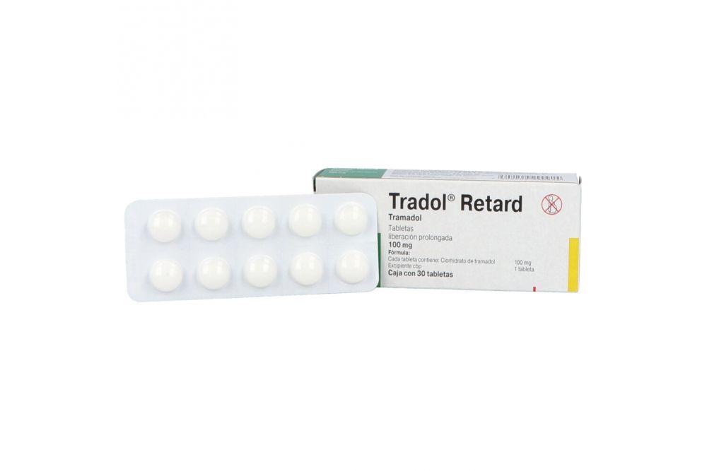Tradol Retard 100 mg Caja con 30 Tabletas