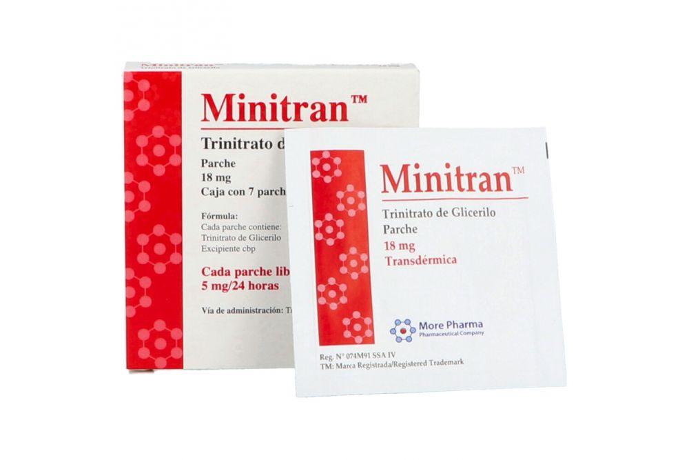 Minitran 18 mg Caja Con 7 Parches