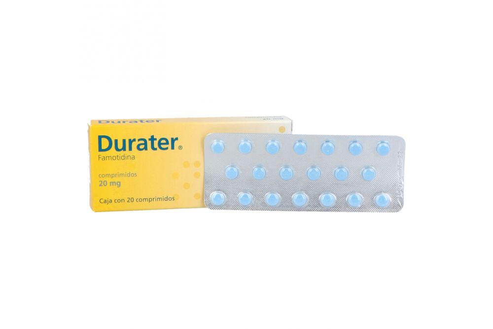 Durater 20 Mg Caja Con 20 Comprimidos