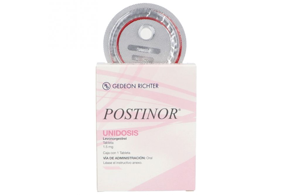 Postinor2 Uidosis 1.5 mg Caja Con 1 Tableta