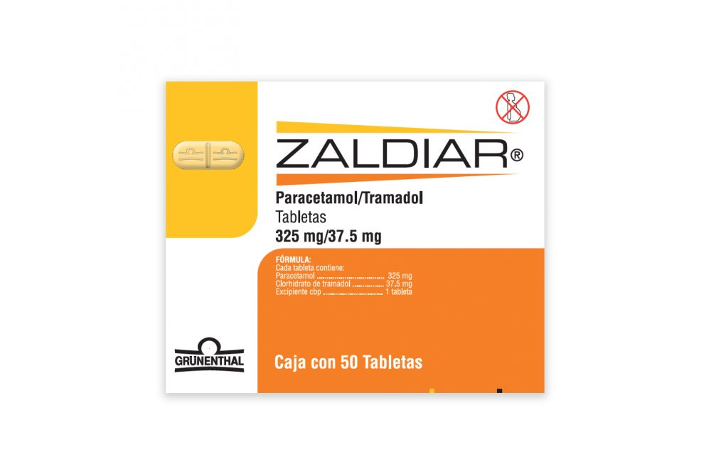 Zaldiar 325 mg / 37.5 mg Caja Con 50 Tabletas