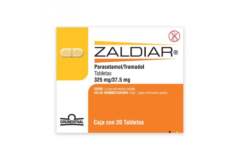 Zaldiar 325 mg/37.5 mg Caja Con 20 Tabletas