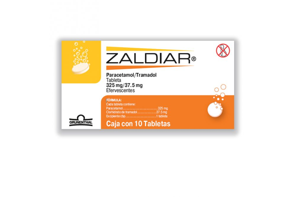 Zaldiar 325 mg /37.5 mg Caja Con 10 Tabletas Efervescentes