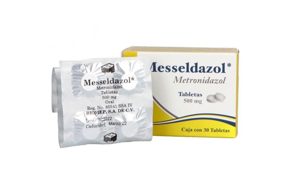Metronidazol 500 mg. 30 Tabletas