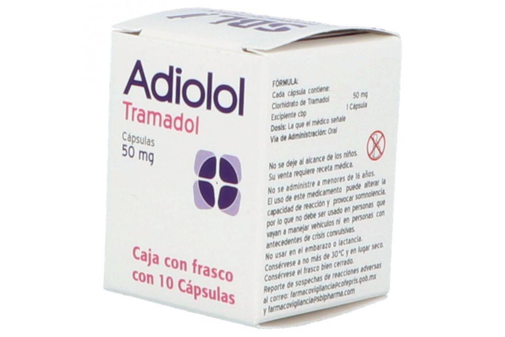 Adiolol 50 mg Con 10 cápsulas