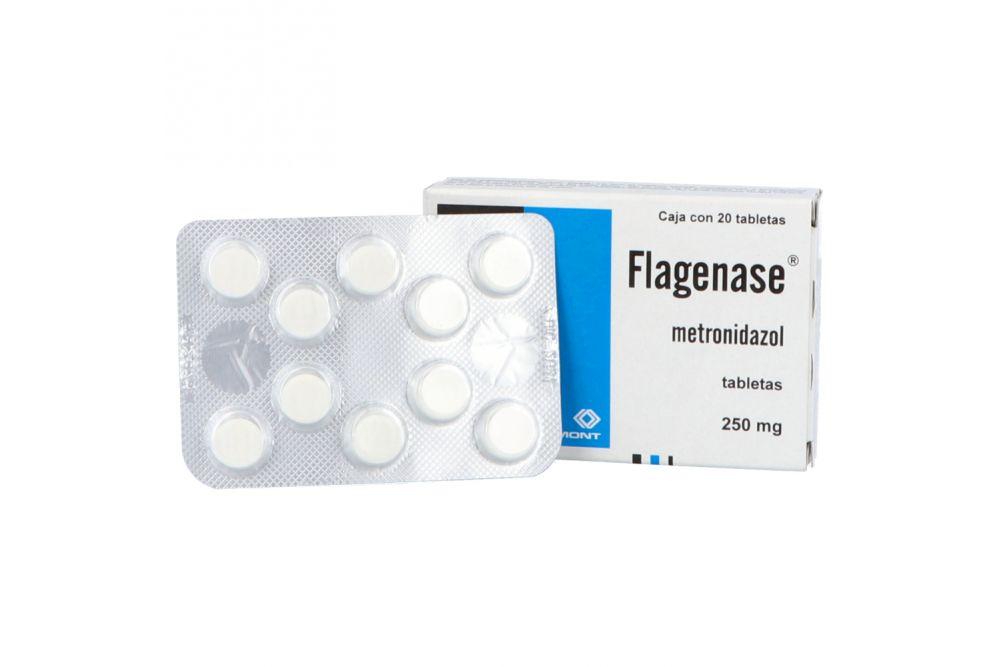 Flagenase 250 mg Caja Con 20 Tabletas