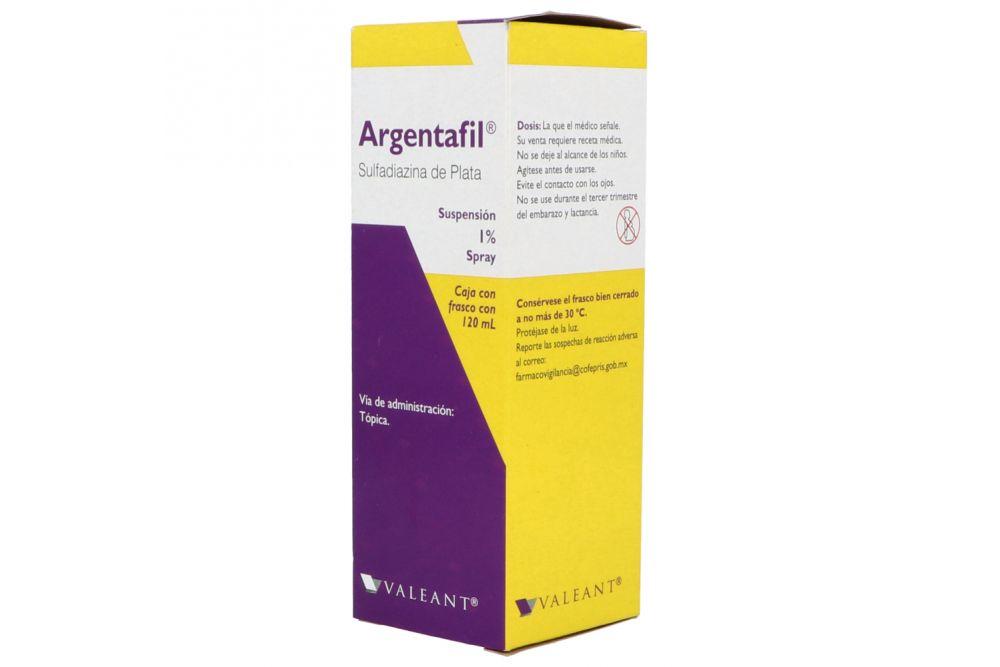 Argentafil 1 % Caja Con Frasco con 120 mL