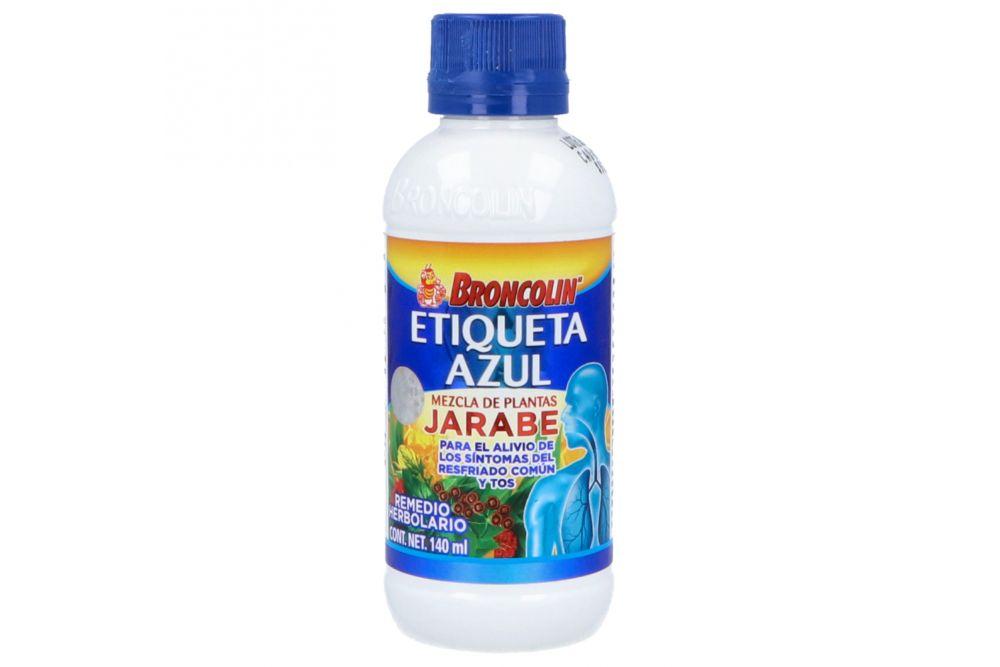 Broncolin Jarabe Etiqueta Azul Frasco Con 140 mL