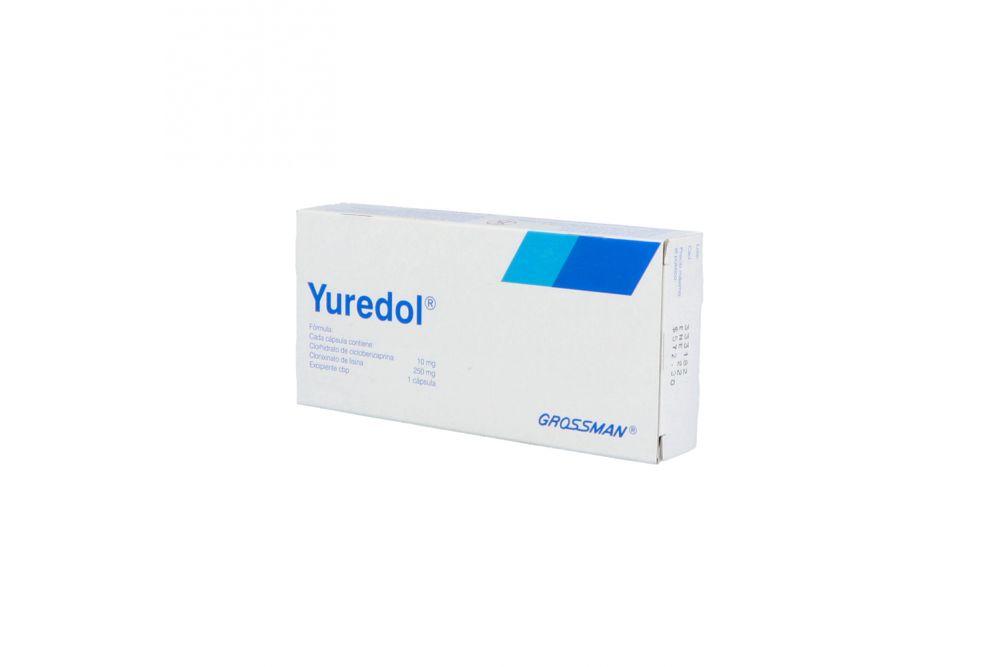 Yuredol 10 mg / 250 mg Caja Con 30 Cápsulas