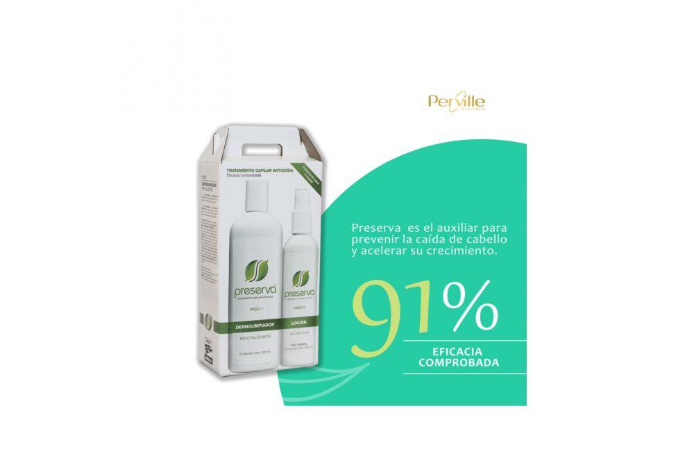 Preserva Tratamiento Capilar Anticaída Caja Con Botella Con 250 mL