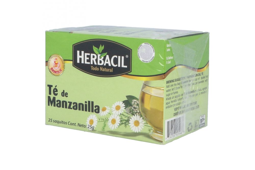 HERBACIL TE MANZANILLA CAJA CON 25 SOBRES