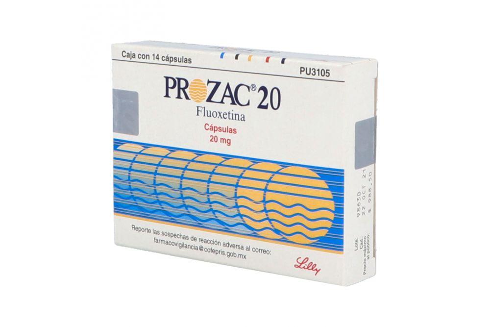 Prozac 20mg Caja Con 14 Cápsulas
