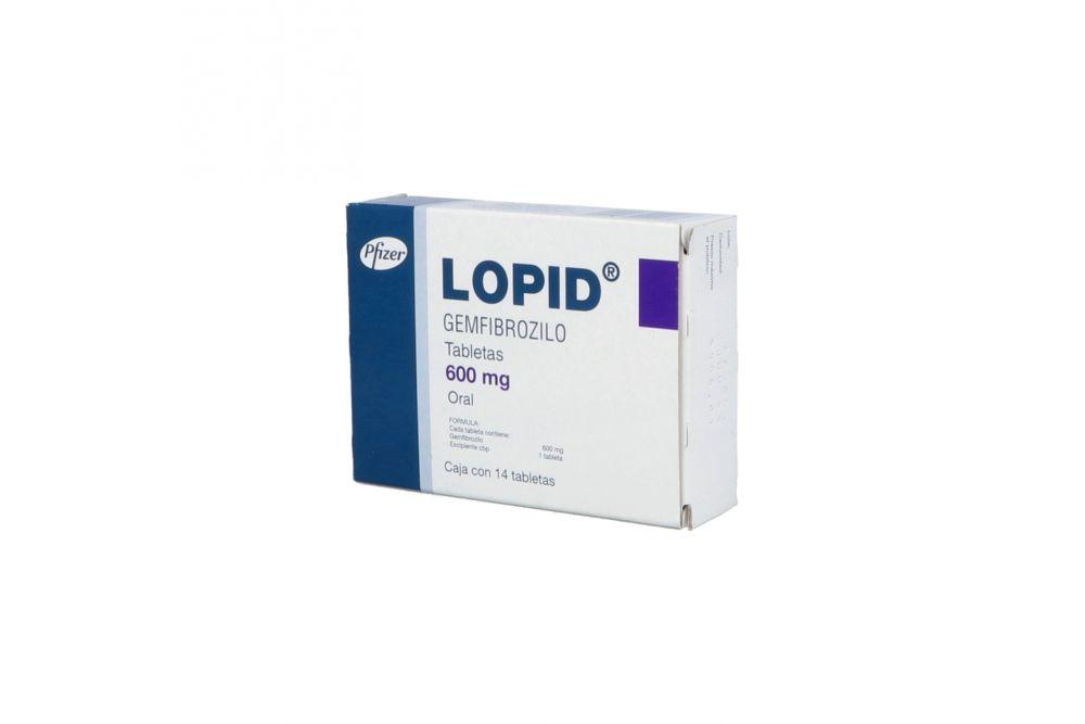 Lopid 600 mg Caja Con 14 Tabletas