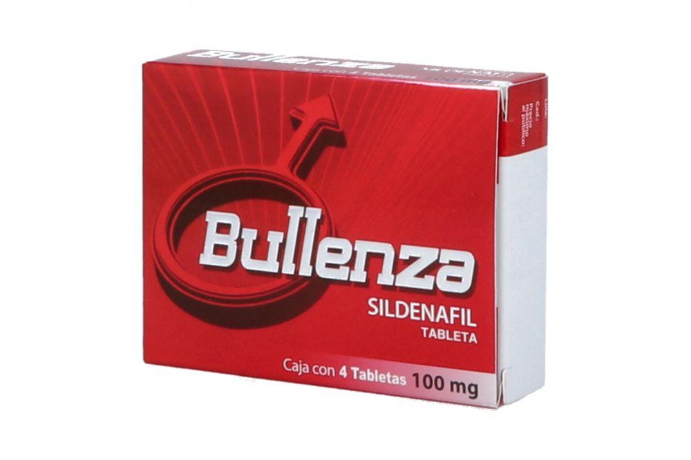Bullenza 100 mg Caja Con 4 Tabletas