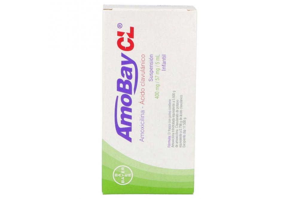 Amobay CL Suspensión Infantil 400 mg/57mg/5mL Caja Con Frasco Con Polvo Para 70 mL - RX2