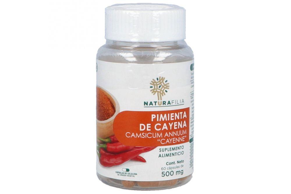 Pimienta Cayena Bote Con 60 Cápsulas De 500 mg