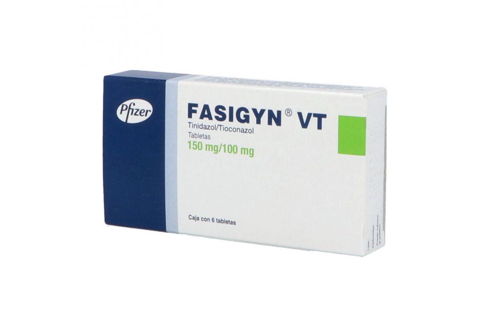 Fasigyn VT Caja Con 6 Tabletas