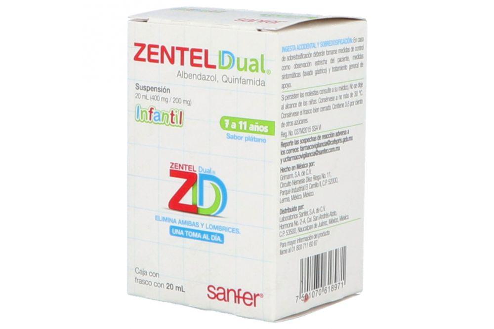 Zentel Dual 400/200 mg Suspensión Frasco 20 mL