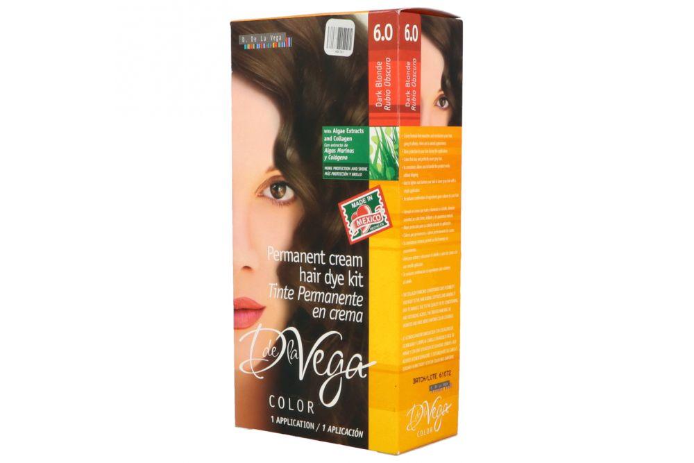 Tinte En Crema De la Vega Rubio Oscuro 6.0 Caja Con 5 Piezas