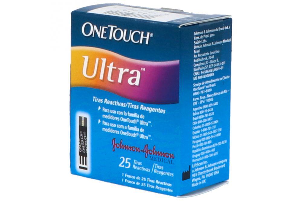Tiras Reactivas One Touch Ultra 25 Tiras En Caja