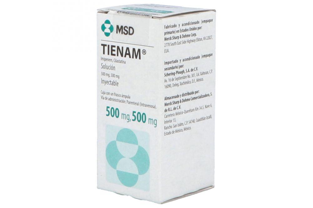 Tienam 500 mg / 500 mg Caja Con Un Frasco Ámpula -RX2
