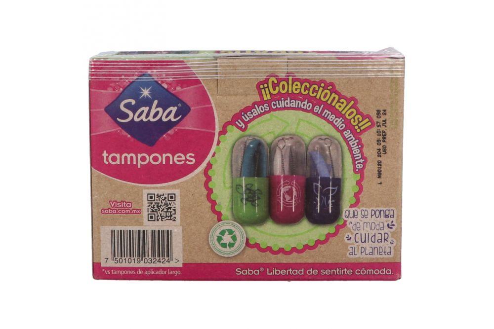 Tampones Saba Caja Con 10 Piezas