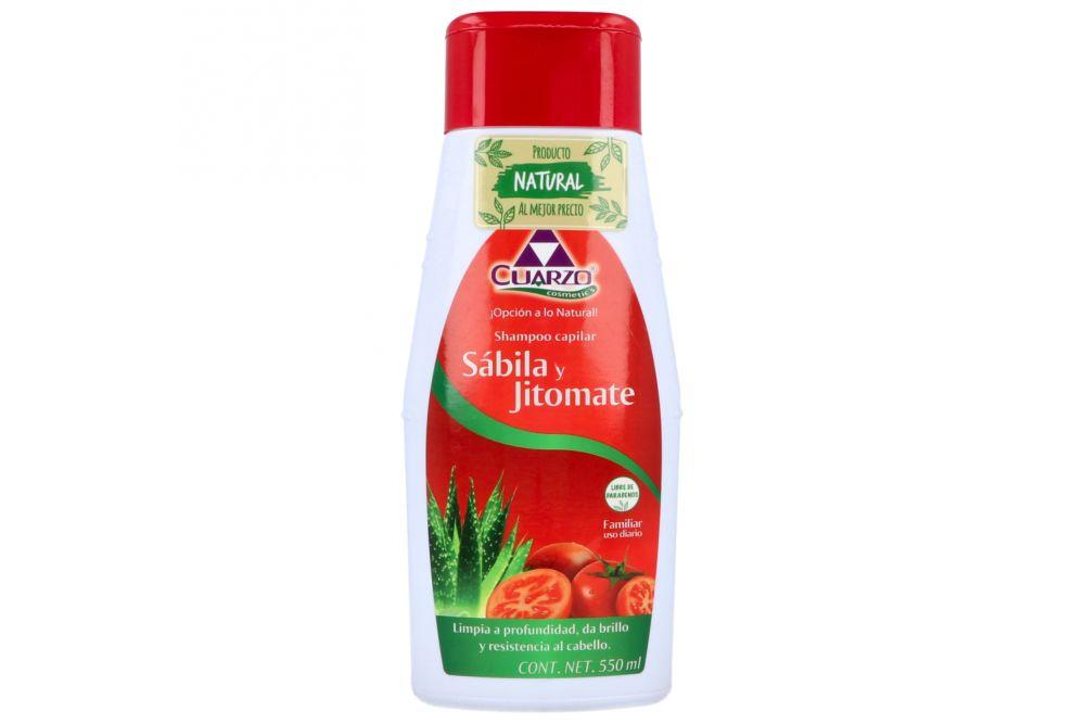 Shampoo Capilar De Jitomate y Sábila Botella Con 500 mL +  50 mL Gratis