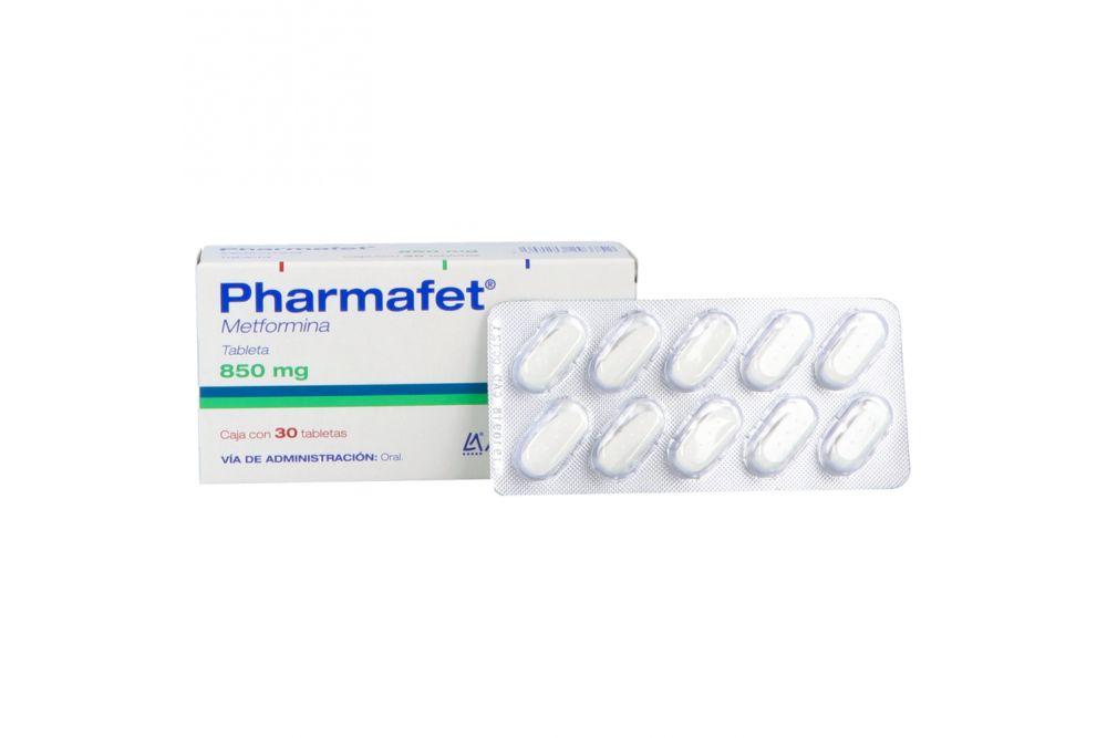 Pharmafet 850 mg Caja Con 30 Tabletas