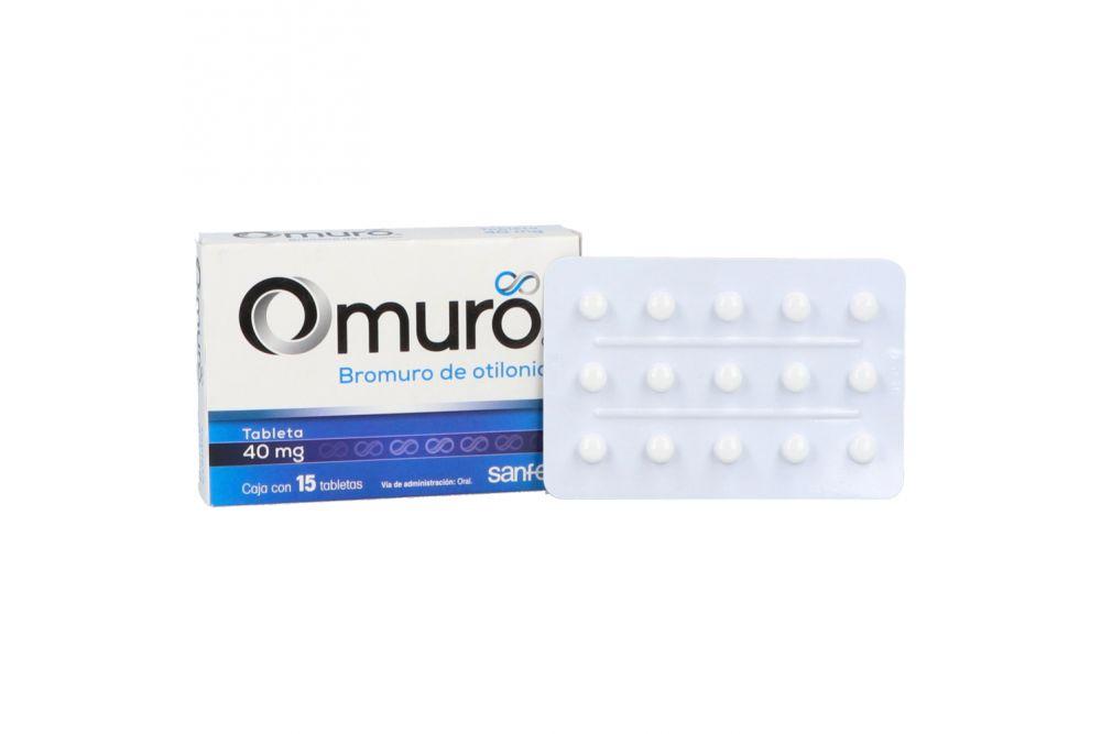 Omuro 40 mg Caja Con 15 Tabletas