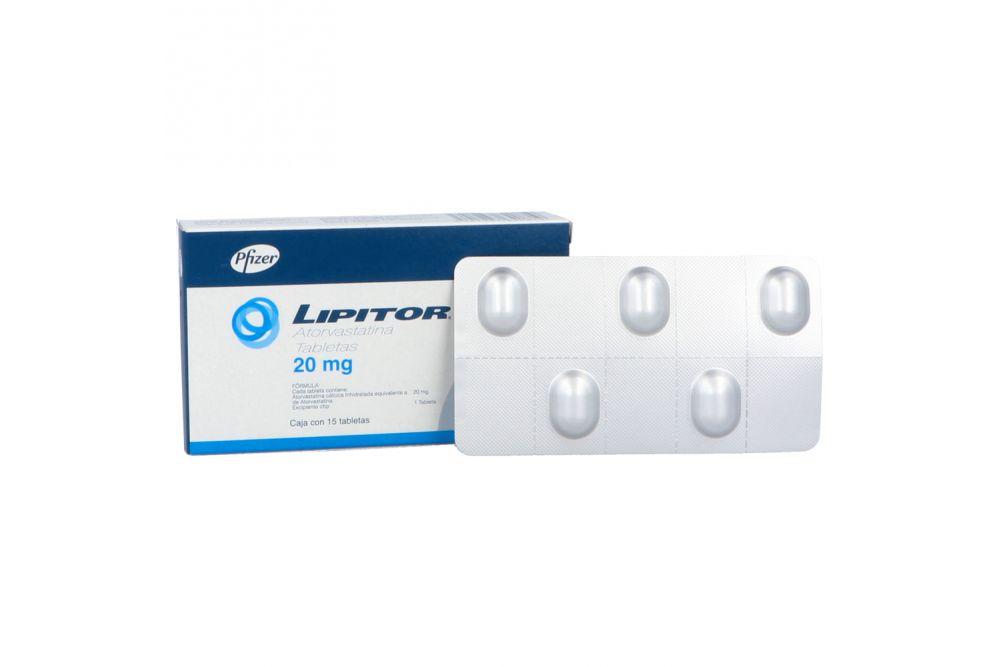 Lipitor 20 mg Caja Con 15 Tabletas
