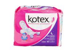 Kotex Natural Flex Toalla Nocturna Con Alas Paquete Con 10 Piezas y 2 Gratis