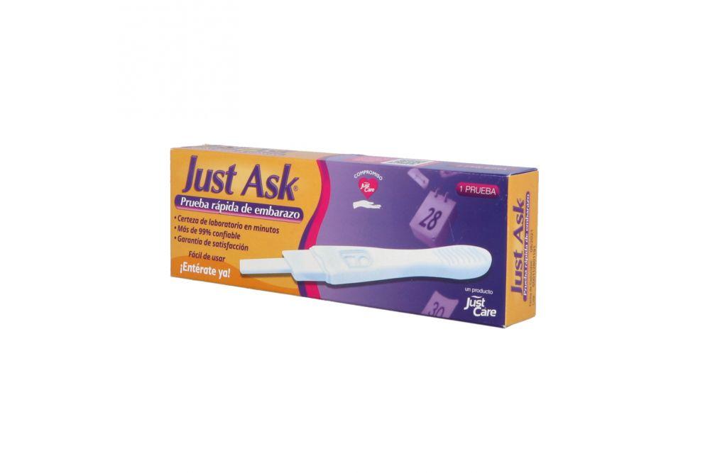 Just Ask Prueba Rápida De Embarazo Caja Con 1 Pieza
