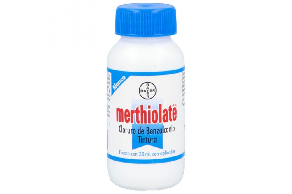 Merthiolate Blanco Frasco Con 30 mL