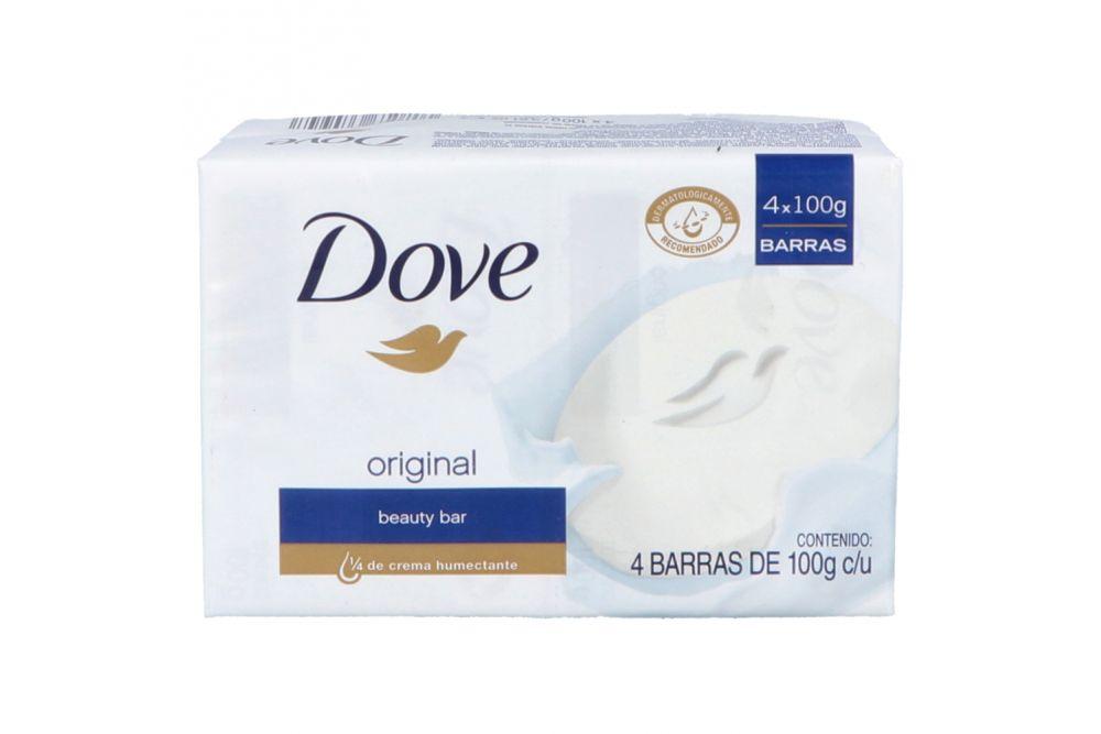 Jabón Dove Empaque Con 4 Barras De 100g Cada Una