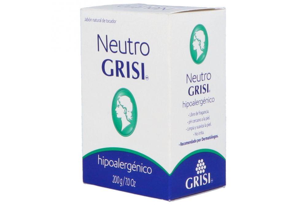 Grisi Neutro Jabón Natural Caja Con Barra De 200g