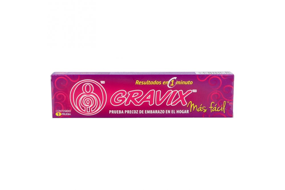 Gravix Caja Con 1 Prueba De Embarazo Casera